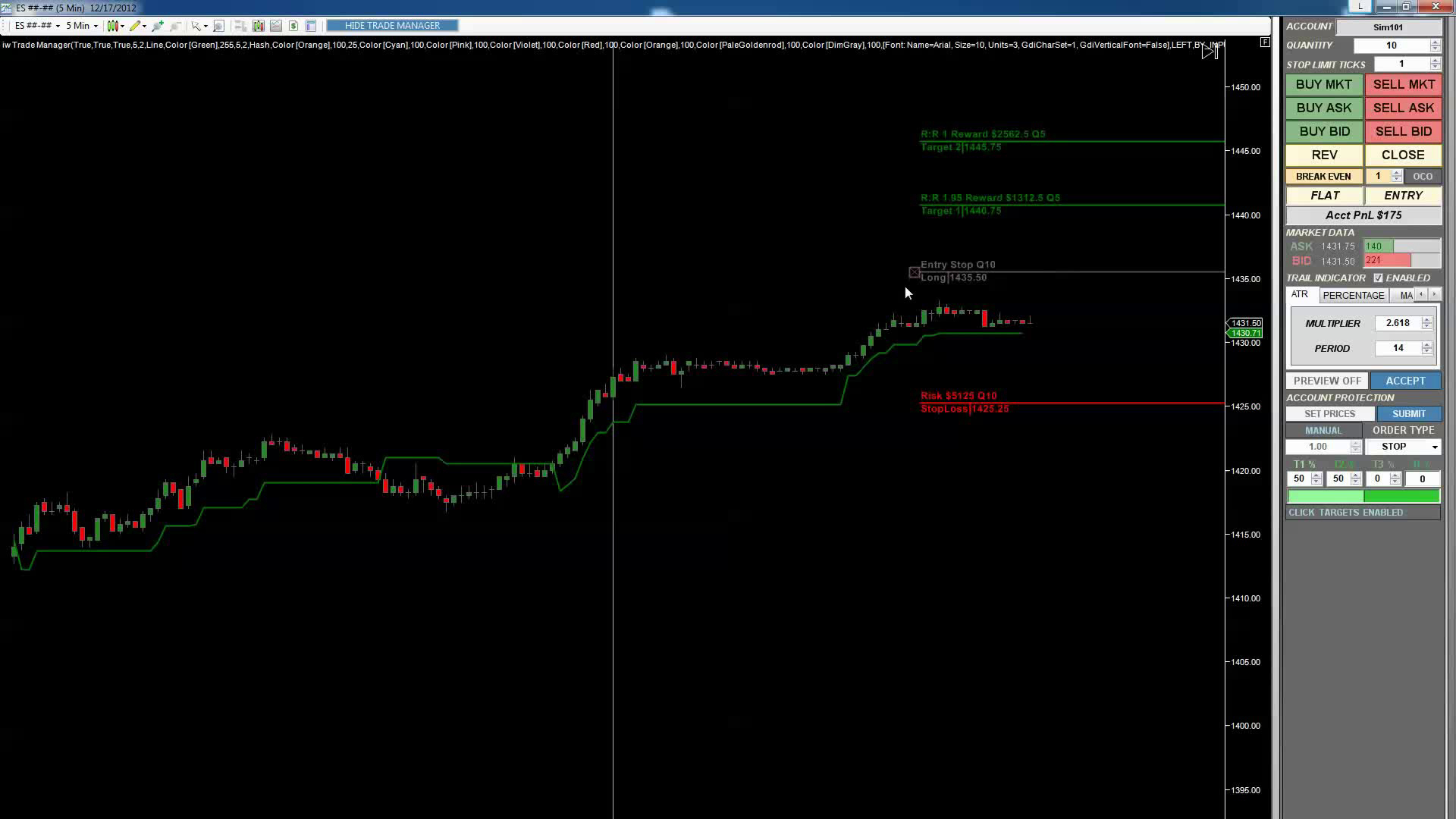Real time options trading simulator